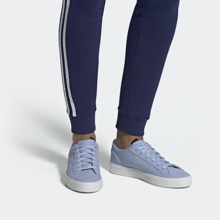 official shop wholesale online new products Adidas Sleek Chaussures Periwinkle/Periwinkle/Crystal Blanche DB3259