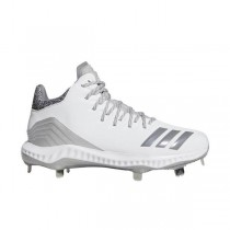 """Adidas Icon Bounce Mid """"Blanche/Gris"""" Homme Baseball Cleat"""