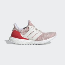 Adidas Ultra Boost 4.0 Chalk Blanche Active Rouge Femme - DB3209