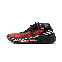 "Adidas DAME4 Bape ""Red Shark ABC Camo"" - AP9976"