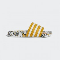 Adidas Femme Originals Adilette Slides Craft Gold/Blanche/Craft Gold D96682