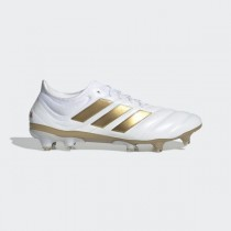 adidas Copa 19.1 Firm Ground Cleats - Blanche - F35516