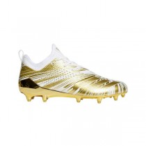 """Adidas adizero 5-Star 40 Uncaged """"Blanche/Or"""" Homme Cleats"""
