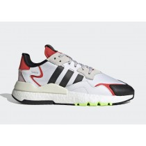 Adidas Nite Jogger Blanche/Noir/Hi-Res Rouge EH1293