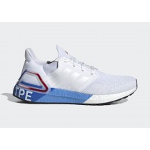 """Adidas Ultra BOOST 20 """"City Pack"""" Taipei Blanche/Blanche/Glory Rouge FX7816"""