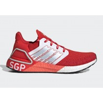 "Adidas Ultra BOOST 20 ""City Pack"" Singapore Active Rouge/Sky Tint/Glow Orange FX7817"