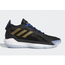 Adidas Dame 6 Noir/Gold Metallic/Team Royal Bleu FV4214