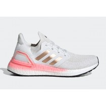 "Adidas Ultra BOOST 20 Femme ""Lumière Flash Rouge"" Crystal Blanche/Copper Metalic/Lumière Flash Rouge EG0724"