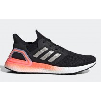 Adidas Ultra BOOST 20 Homme Noir/Blanche/Signal Coral EG0756