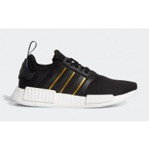 "Adidas NMD R1 ""Metallic Pack"" Noir/Gold Metallic/Crystal Blanche FW6443"