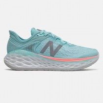 Femme New Balance Fresh Foam More v2 WMORBP2 Sea Salt avec Newport Bleu