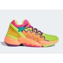 """Adidas D.O.N. Issue 2 """"Multi-Couleur"""" Shock Rose/Semi Solar Slime/Glory Pourpre FX4488"""
