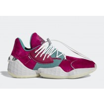 "Daniel Patrick x Adidas Harden Vol. 4 ""Power Berry"" Power Berry/Tech Emerald/Crystal Blanche FY2791"