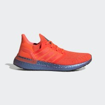 Adidas Ultraboost 20 Chaussures - Orange , Bleu - FV8451