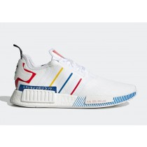 """adidas NMD R1 """"Olympic Pack"""" Blanche/Bleu/Rouge FY1432"""