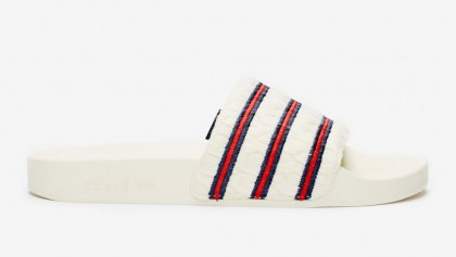 """Extra Butter x Adidas Consortium Adilette Slides """"Cableknit"""" Blanche/Core Royal/Blanche EG1719"""