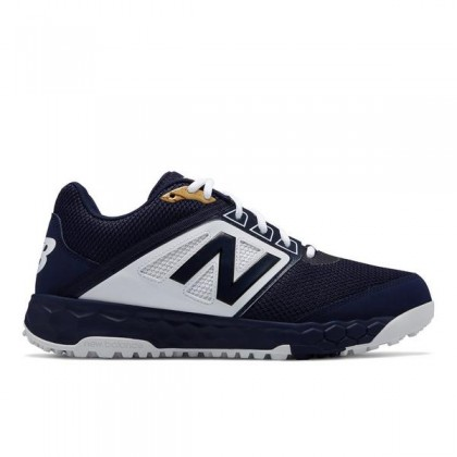 New Balance Homme 3000v4 Turf Chaussures (T3000TN4): Marine avec Blanche