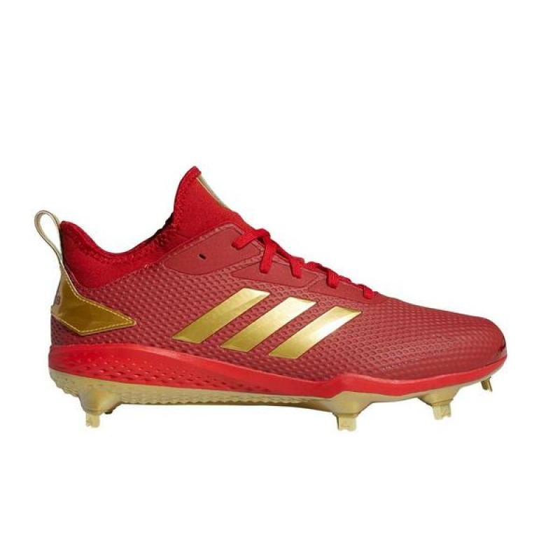 Adizero Afterburner V Cleats Power Rouge/Or Metallic/Noir CG5220