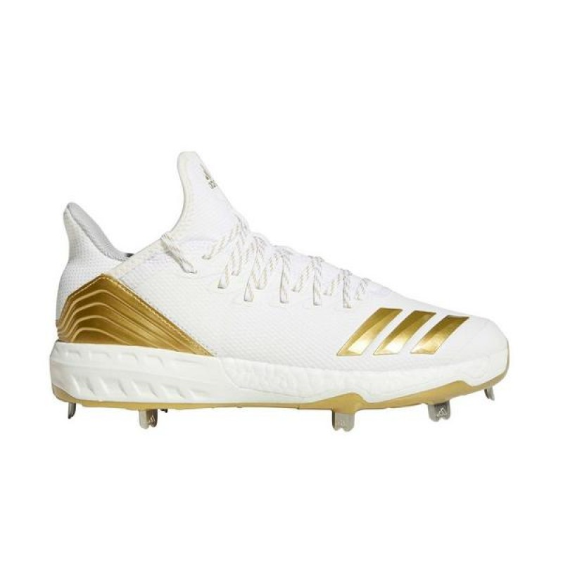 Boost Icon 4 Cleats Blanche/Or Metallic/Blanche CM8476