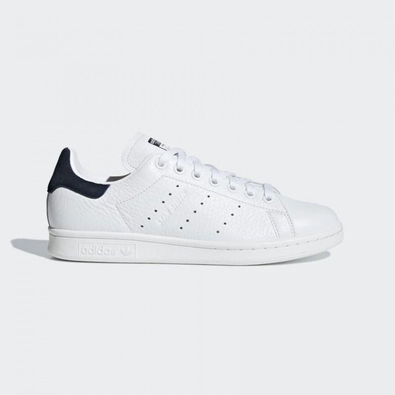 Femme Adidas Originals Stan Smith Chaussures Blanche/Marine B41626