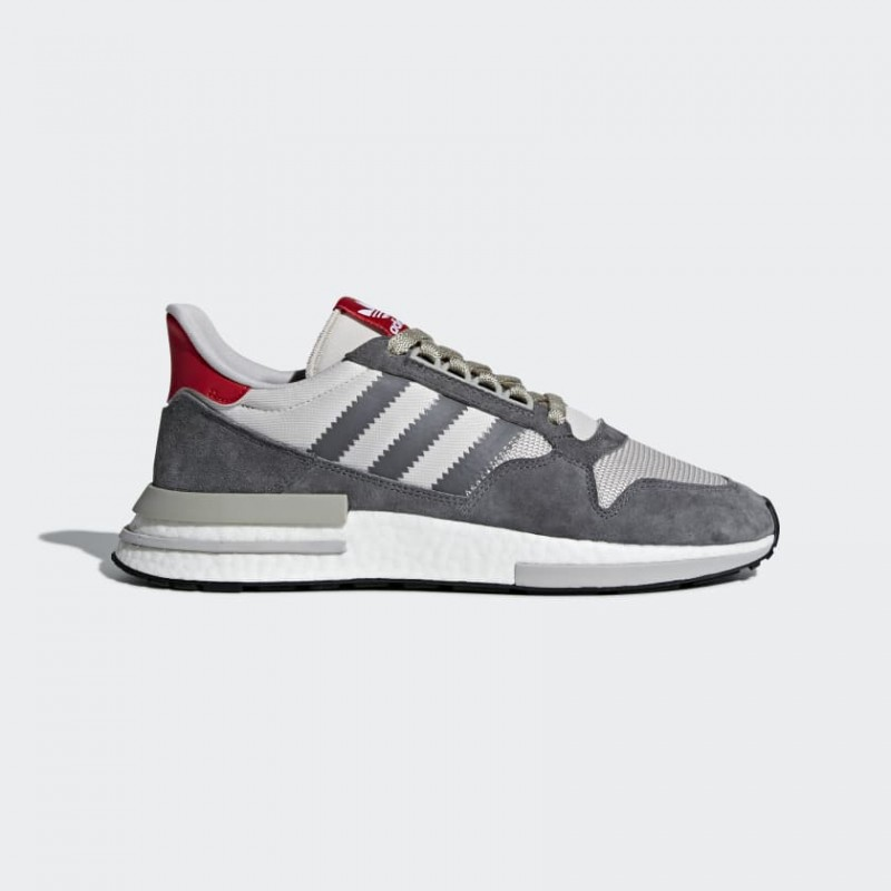 ZX 500 RM Chaussures Gris Four/Blanche/Scarlet B42204