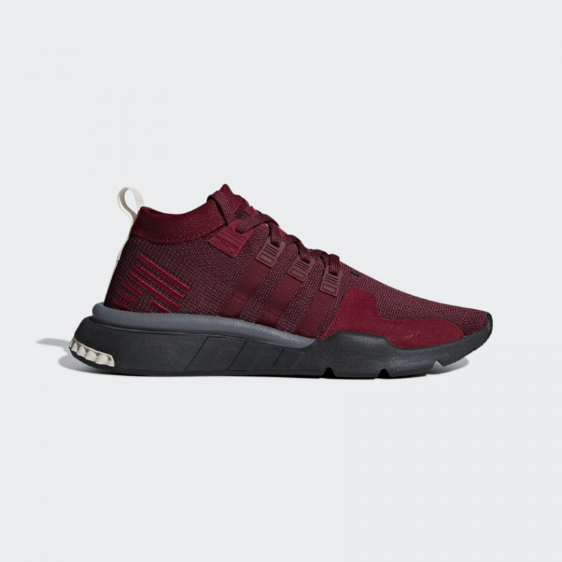 EQT Support Mid ADV Chaussures Night Rouge/Carbon/Clear Marron DB3562