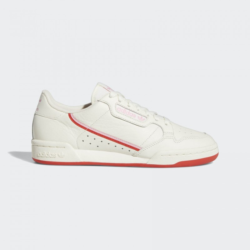 Adidas Continental 80 Blanche Active Rouge Femme - EE3831