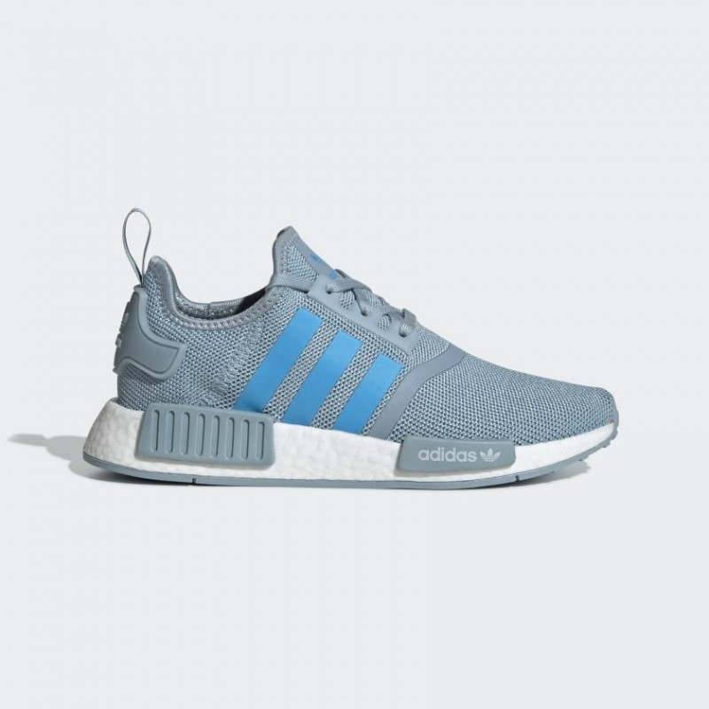 NMD_R1 Chaussures Ash Gris/Shock Cyan/Blanche G27688