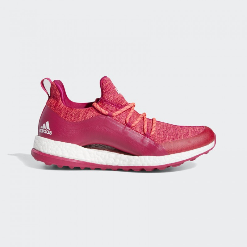 Pureboost Golf Chaussures Rouge Zest/Bold Rose/Blanche BB8015