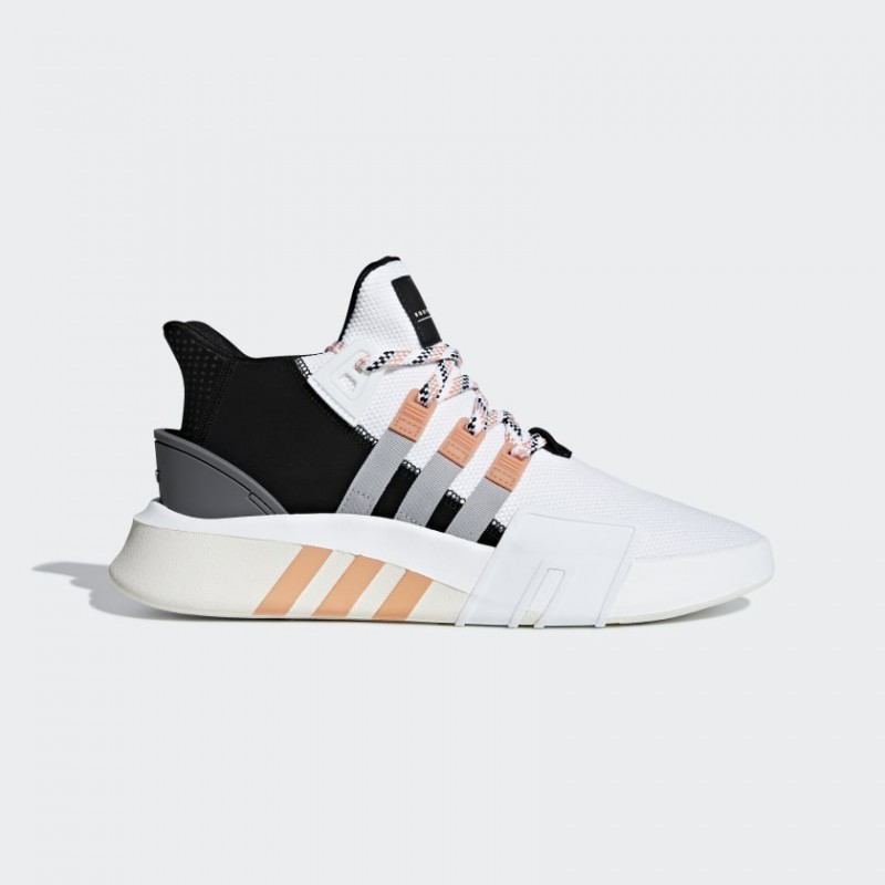 EQT Bask ADV Chaussures Blanche/Gris Two/Easy Orange F33853