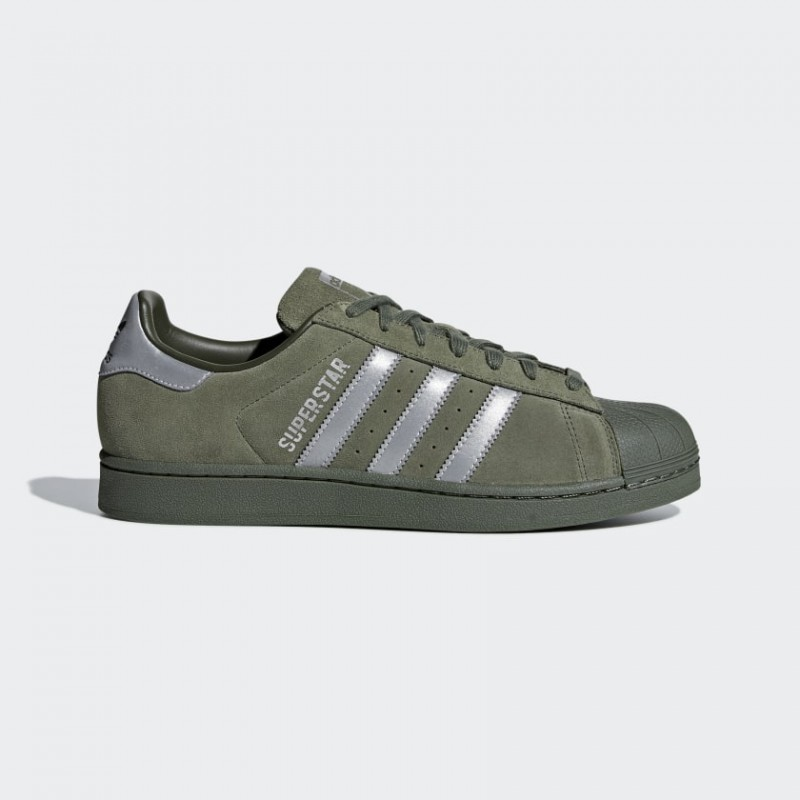 Superstar Chaussures Base Vert/Supplier Colour/Night Cargo B41988