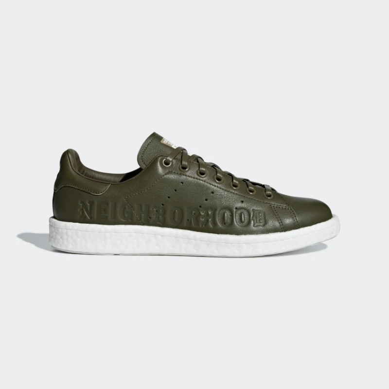 Adidas Stan Smith Boost Neighborhood Olive - B37342