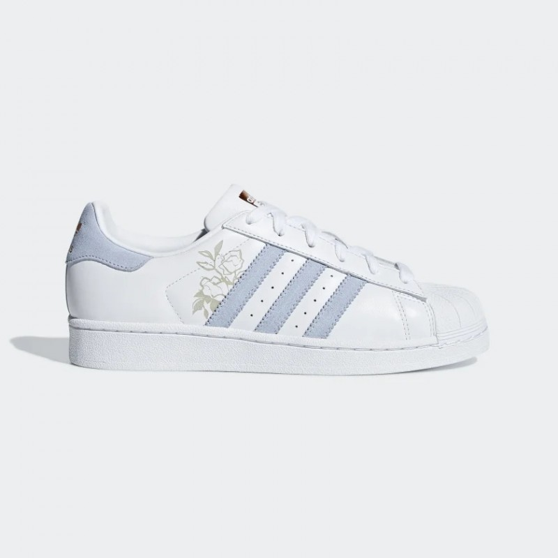 Superstar Chaussures Blanche/Periwinkle/Copper Metalic CG5939
