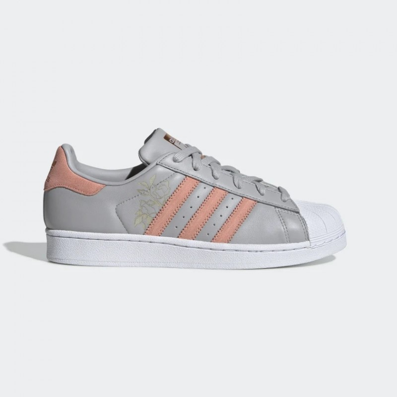 Superstar Chaussures Gris Two/Trace Rose/Blanche CG5994