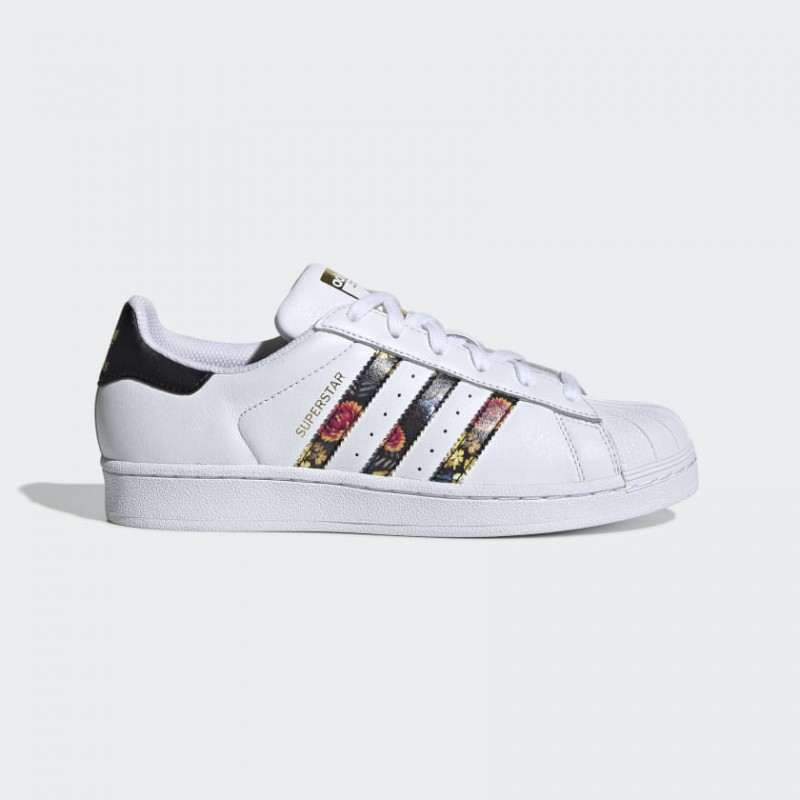 Superstar Chaussures Blanche/Blanche/Or Metallic EF1480