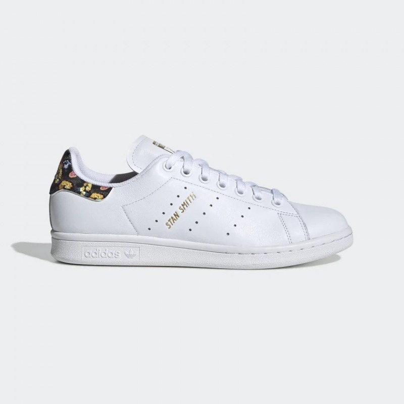 Stan Smith Chaussures Blanche/Blanche/Or Metallic EF1481