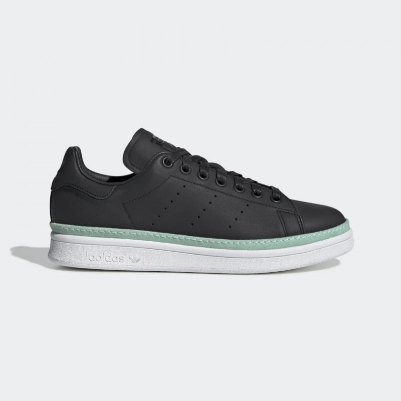 Stan Smith New Bold Chaussures Noir/Clear Mint/Blanche BD8067