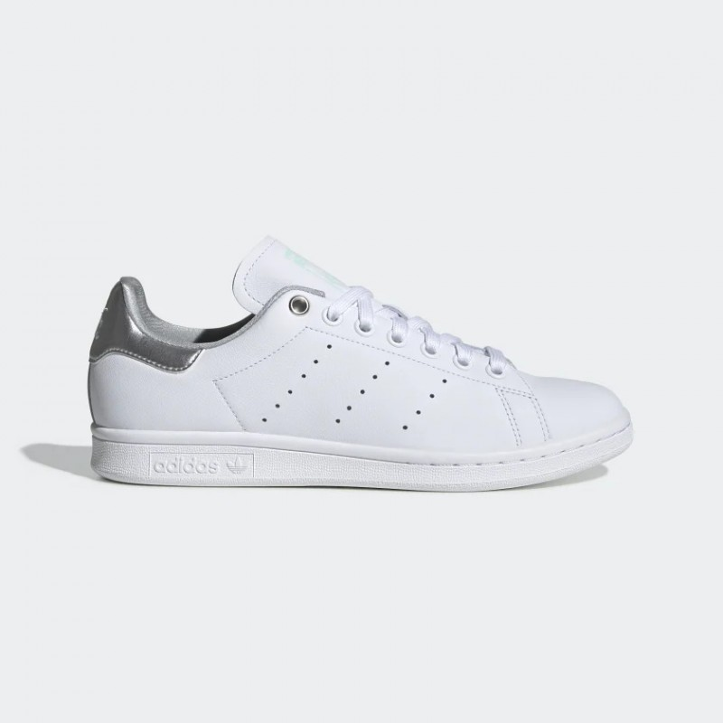 Stan Smith Chaussures Blanche/Argenté Metallic/Clear Mint G27907