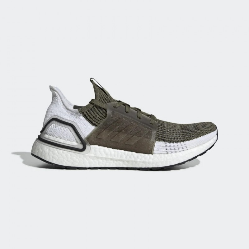 Homme Adidas Running Ultraboost 19 Chaussures Kaki/Blanche F35243