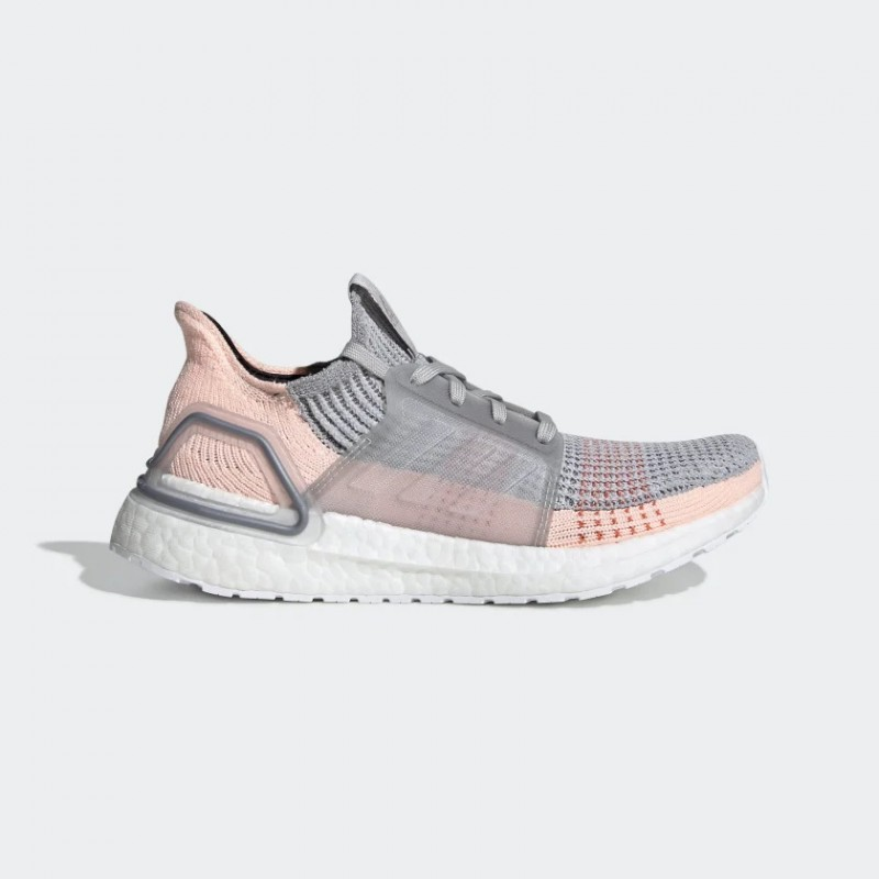 Adidas Ultra Boost 19 Gris Two Clear Orange Femme - B75881