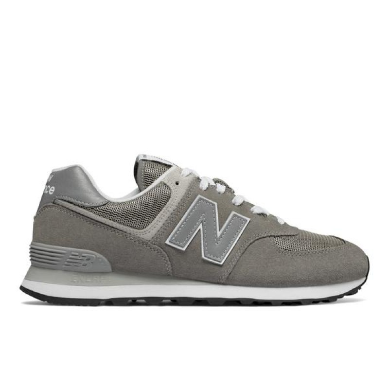 New Balance 574 Gris/Argenté Homme Baskets ML574EGG