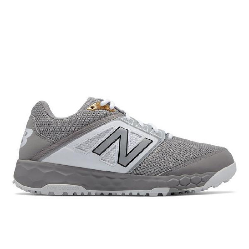 "New Balance Fresh Foam 3000v4 Turf ""Gris"" Homme Baseball Chaussures T3000GW4"