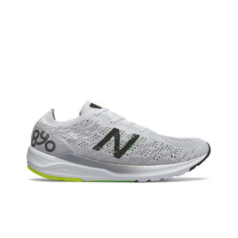 "New Balance 890v7 ""Blanche/Noir"" Homme Baskets M890WB7"
