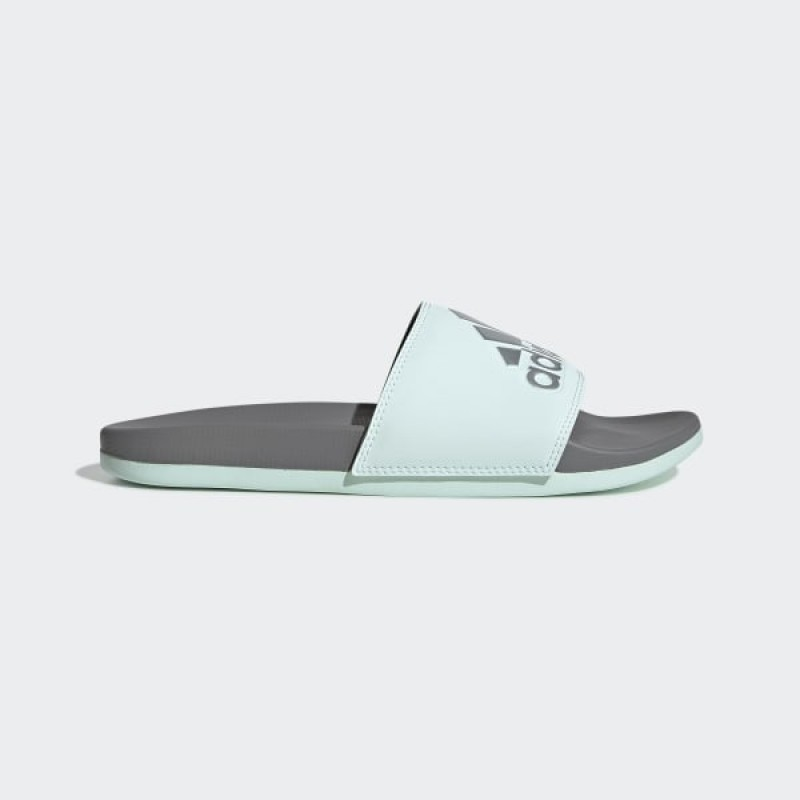 Adidas Femme Essentials Adilette Comfort Slides Ice Mint/Argenté Metallic/Gris Three F34737
