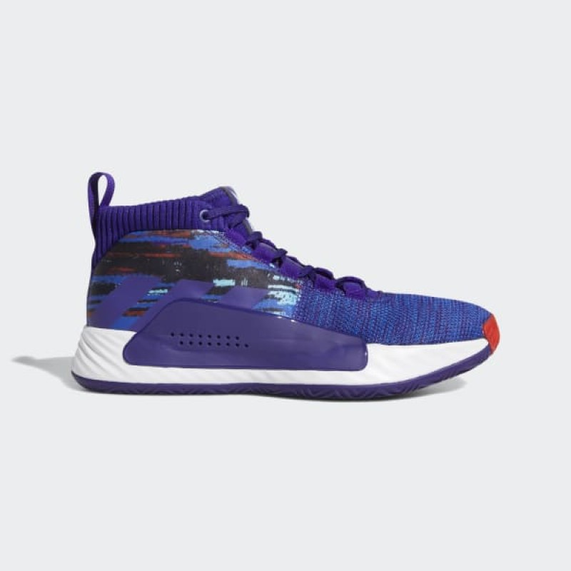 adidas Dame 5 Chaussures - Pourpre - EF0500