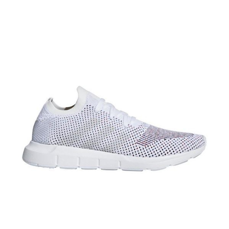 Adidas Swift Run Primeknit Homme Chaussures Blanche/Gris One F17/Medium Gris Heather