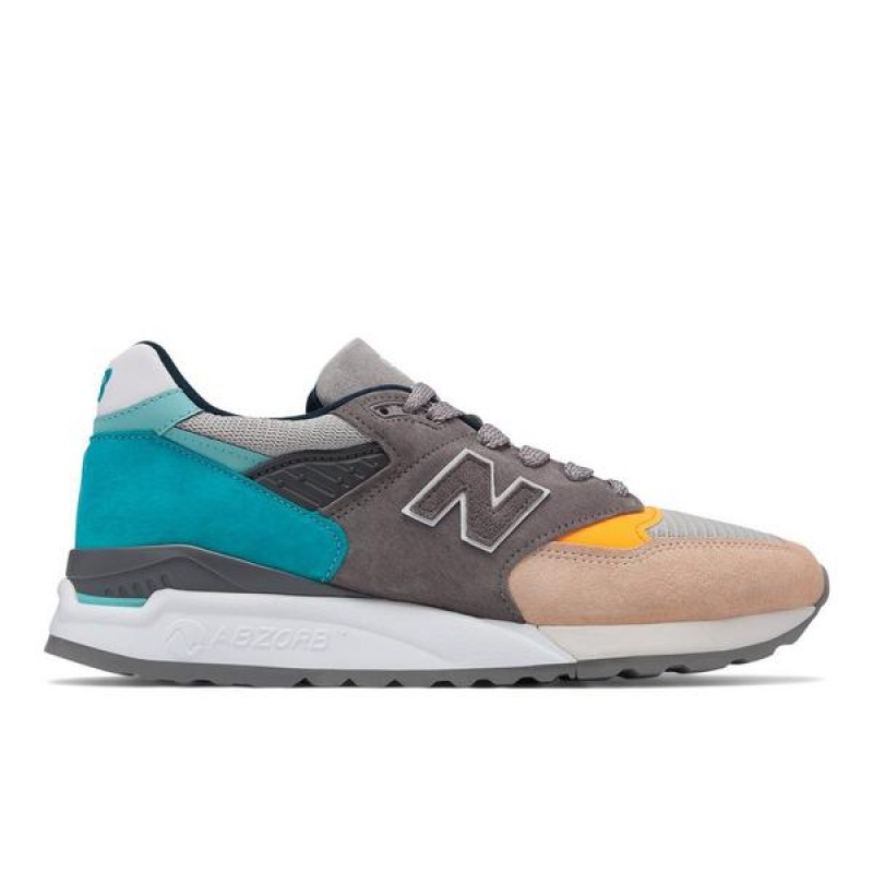 New Balance Homme 998 M998AWB - Made In USA Gris Bleu