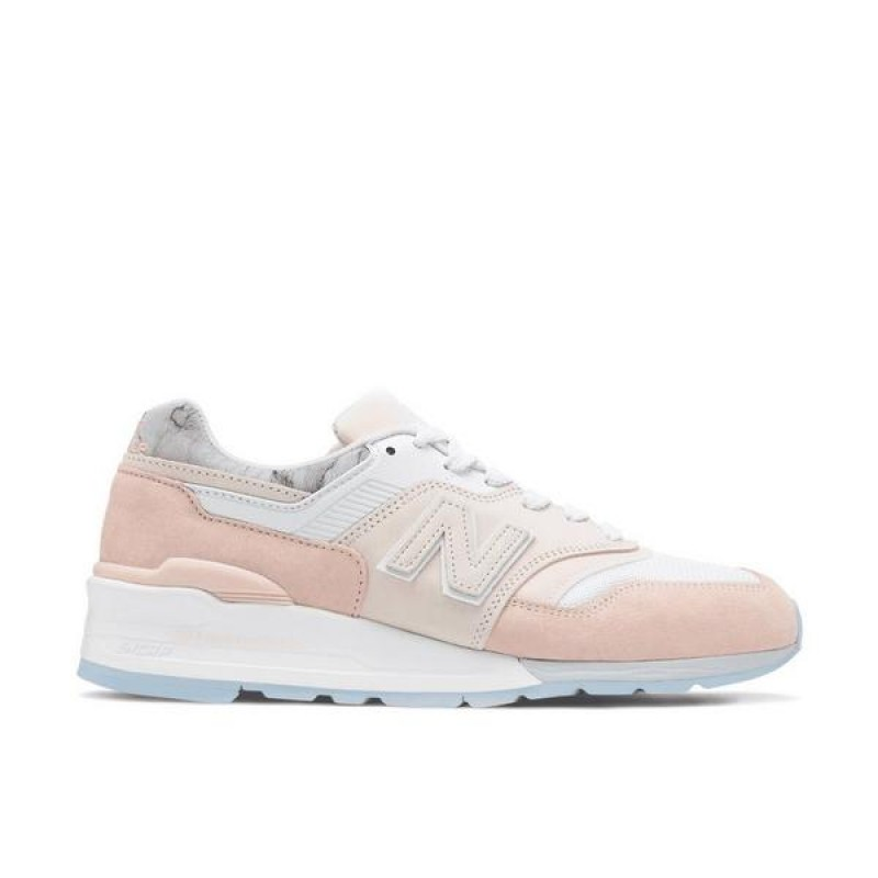 "New Balance 997 ""Blanche/Rose"" Homme Chaussures"