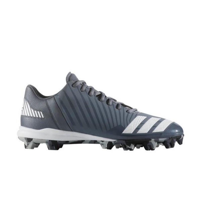 Adidas Icon Mid Homme Baseball Cleat Gris