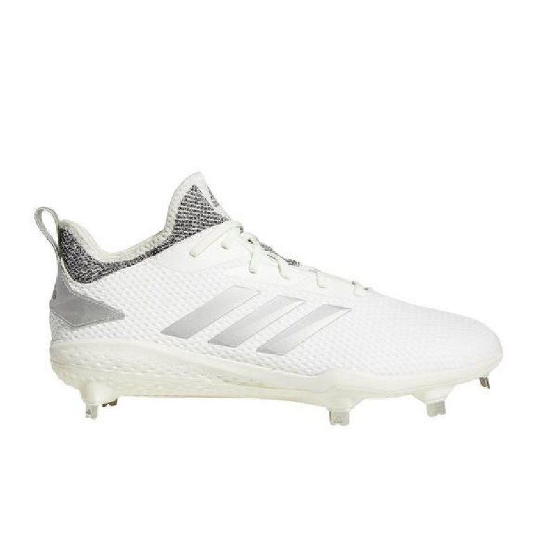 "Adidas adizero Afterburner V ""Blanche/Argenté"" Homme Baseball Cleat"